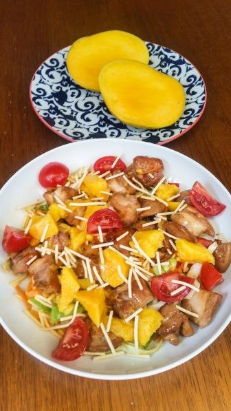 Mango Chicken Salad complete