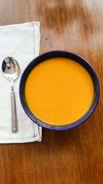 Pumpkin soup flat