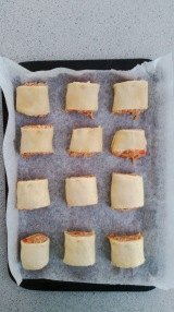 sausage roll ready for the oven