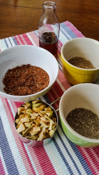 Experiment with your spice mixtures but always take the time to grind them with your salt.